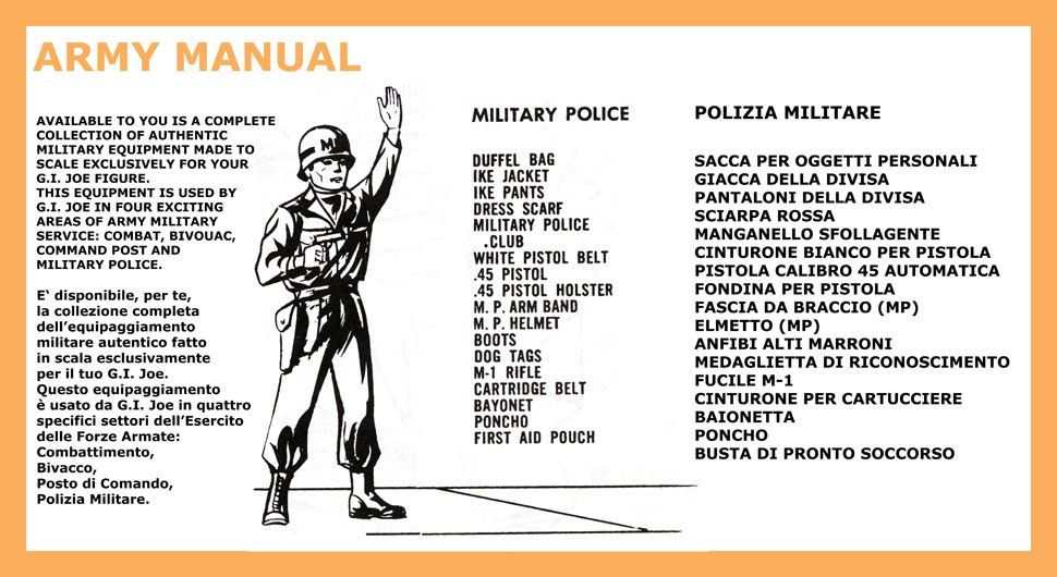 Action MAN 40th manuale dell/'esercito
